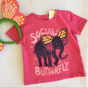 NWT Life Is Good Social Butterfly Girls T Shirt